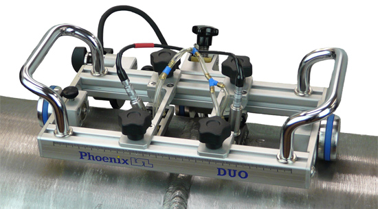 duo scanner on pipe